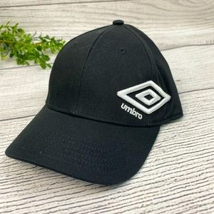 NEW Umbro Black Hat One Size Fits All